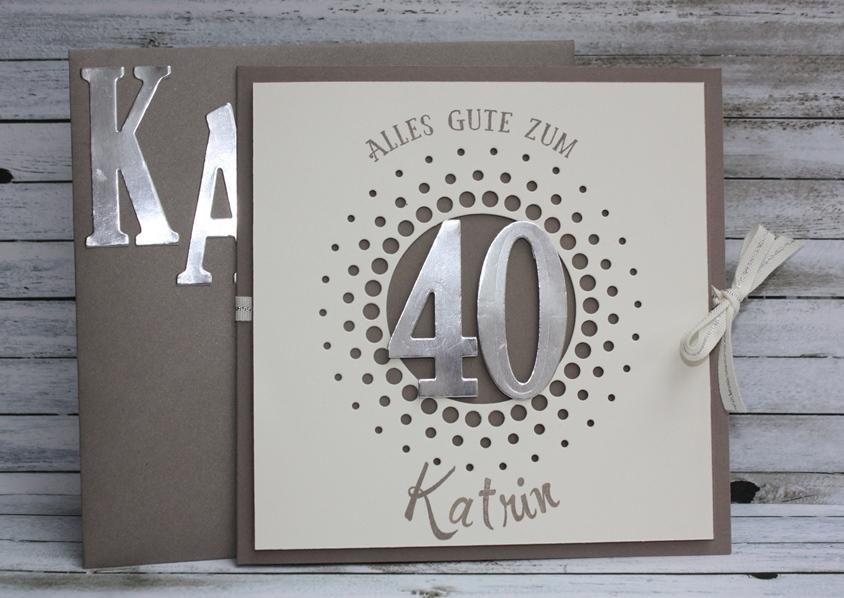 Zum 40 Geburtstag