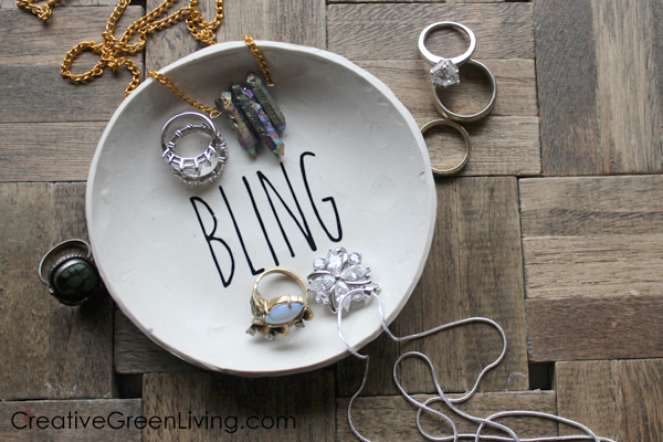 Diy Rae Dunn Inspired Bling Ring Dish Creative Green Living