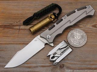 CH Knife CH3009 titanium frame-lock flipper