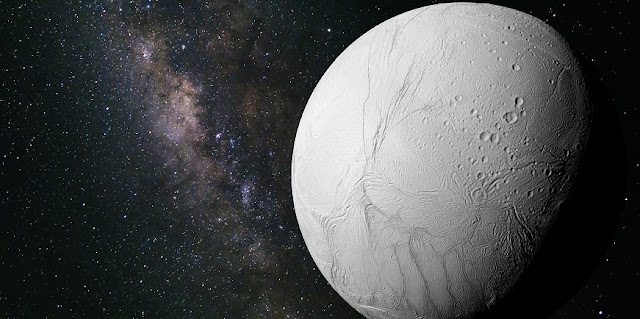 NASA image of Saturn's moon, Enceladus