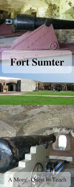 Fort Sumter Cannons and Parade Ground