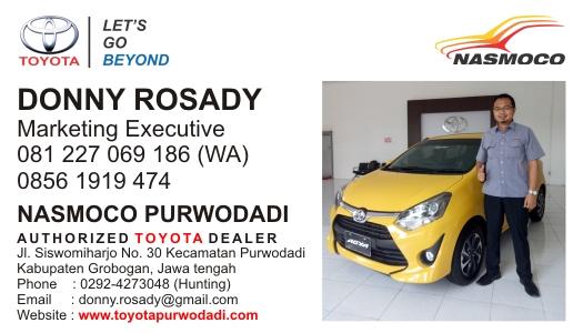 Sales Dealer Resmi Toyota Nasmoco Purwodadi Cepu Blora