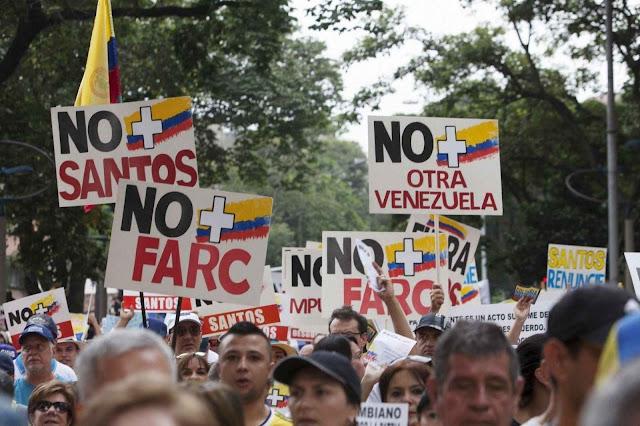 Colombianos não acreditam em Santos, nem nas FARC, e menos ainda nos 'Acordos de Paz'