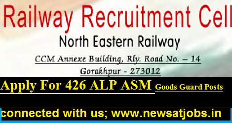 NE Railway Recruitment 2017 - 426 ALP ASM Goods Guard Posts - North