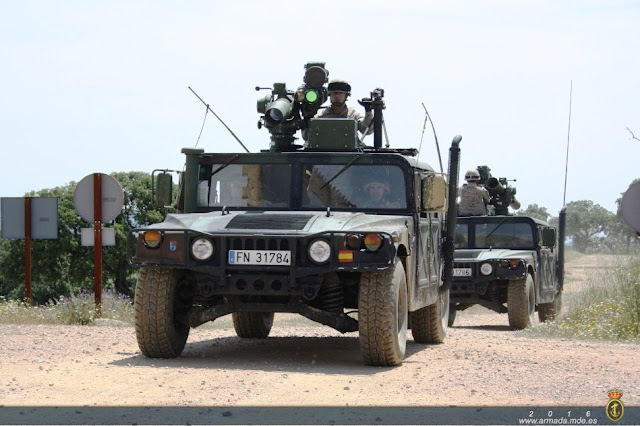 El Tercer Batallón Mecanizado de Desembarco consolida su adiestramiento con ejercicios de tiro de misiles TOW y SPIKE