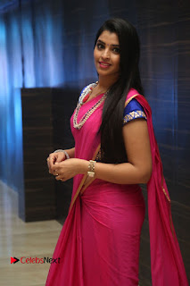 Anchor Shyamala Pictures in Pink Saree at Nandini Nursing Home Audio Launch  0080