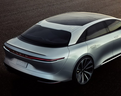 Tinuku.com Lucid Air electric cars by Lucid Motors luxury design, high tech, 1000 horsepower and 400 miles range