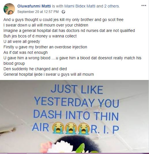 Young Boy Dies After Lagos Hospital Injected Him With The Wrong Blood & Overdose (Photo)