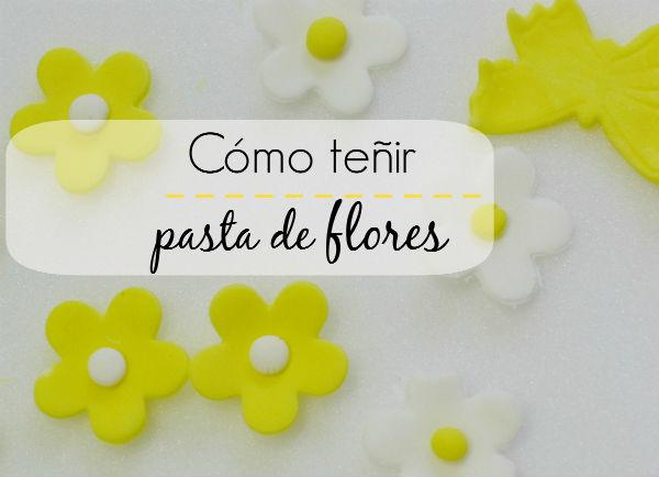 Como teñir fondant o pasta de flores