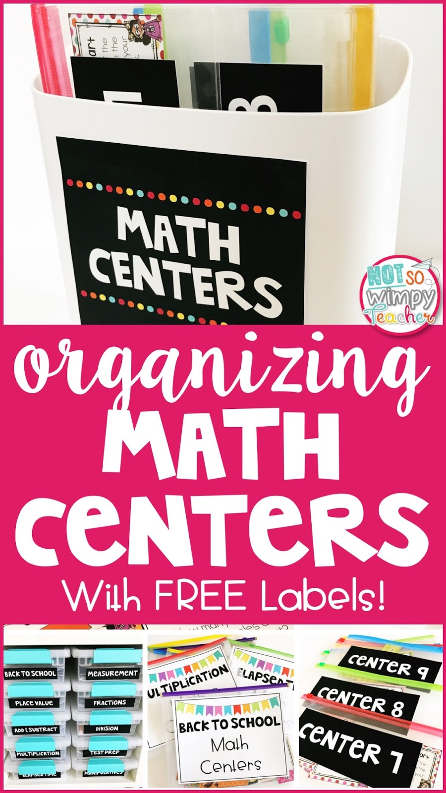 Diary Of A Not So Wimpy Teacher Organizing Math Centers