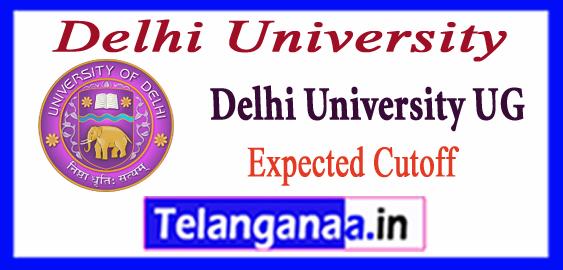 DU Delhi University 8th Expected Cutoff List 2018-19  UG Admission