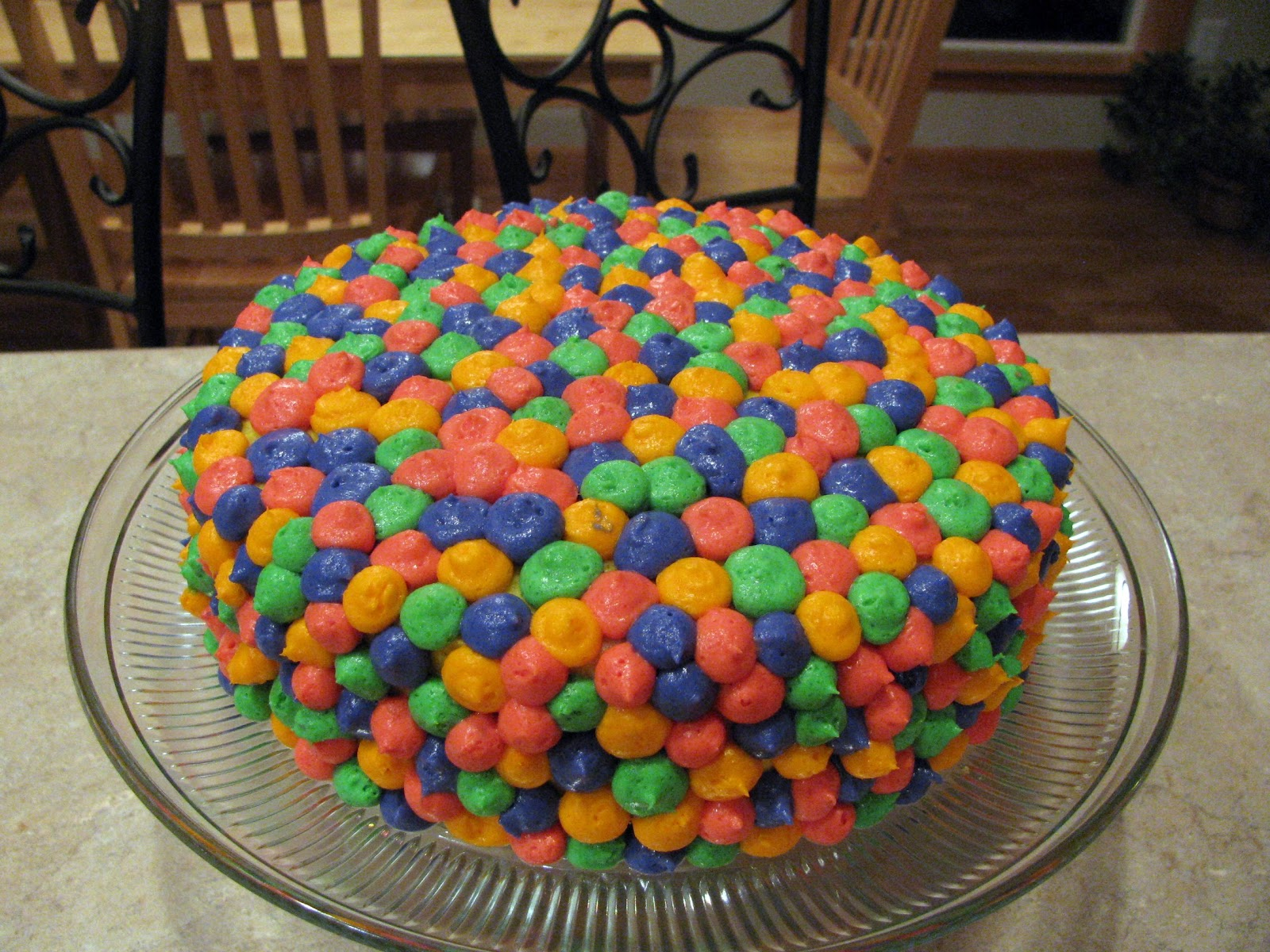 sugar cookies and champagne birthday cake