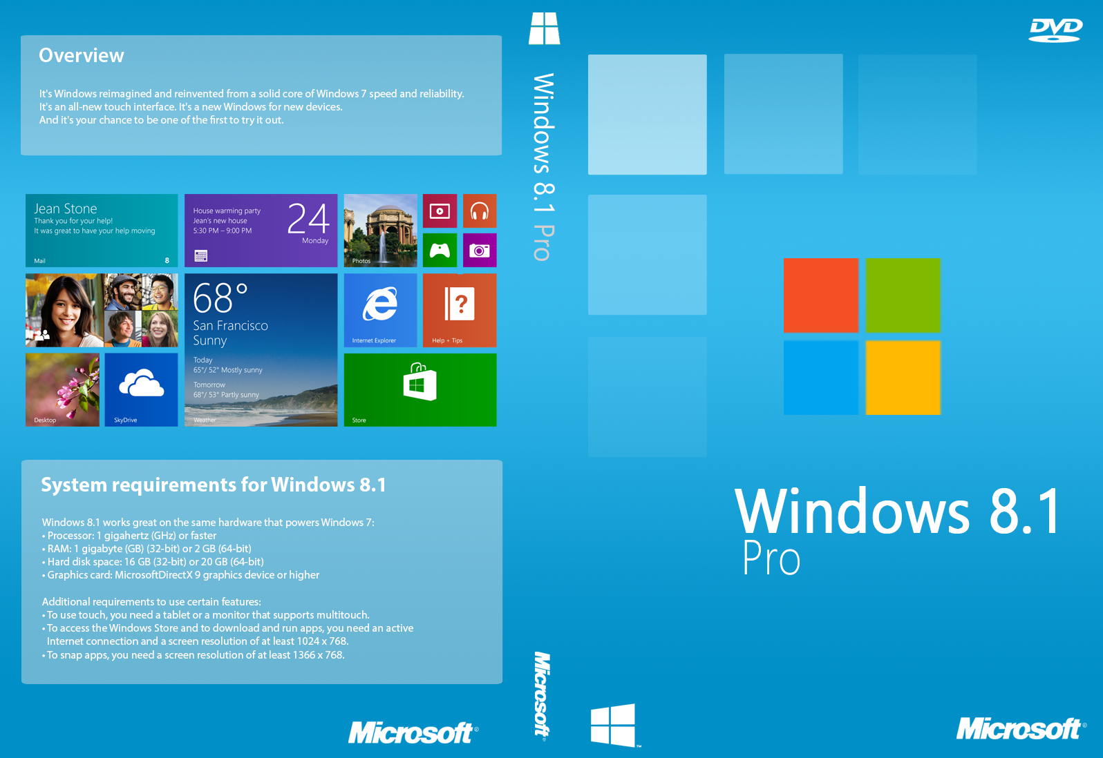 Microsoft Windows 8.1 Professional-Packed - DealBora.com