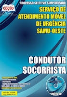 Apostila Concurso CIS-URG SAMU OESTE-MG - CONDUTOR SOCORRISTA.