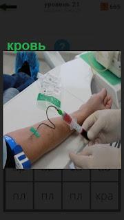 1100 слов происходит сдача крови из вены 21 уровень