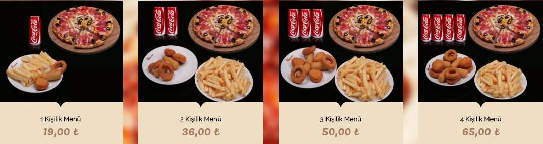 pizza uno talas kayseri menü fiyatlar