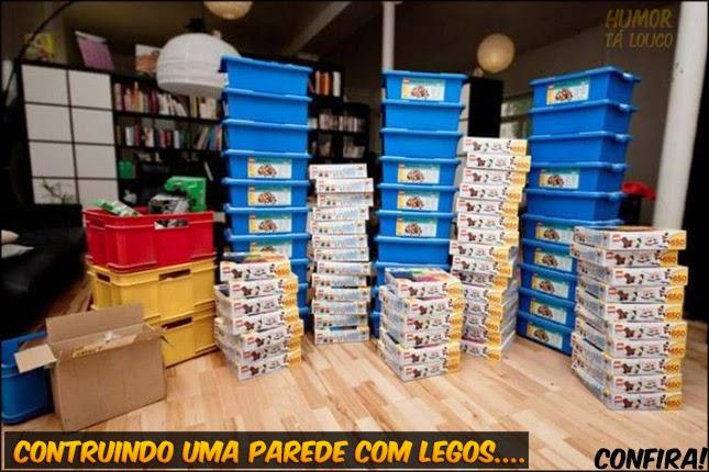 Parede feita com LEGO