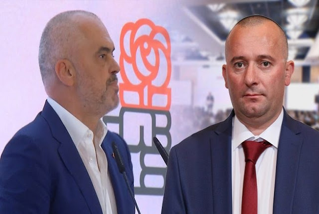 Edi Rama (Left) and Gjetan Gjetani (Right)