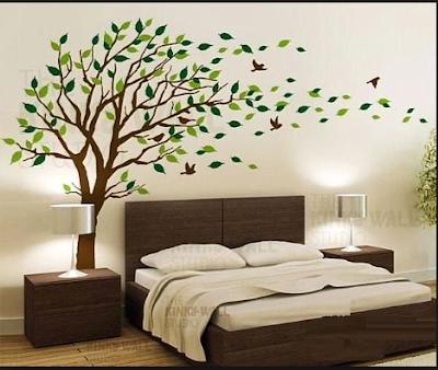 Inspirasi Desain Kamar Tidur  Dengan Nuansa Pepohonan Yang Adem Dan Asri 4