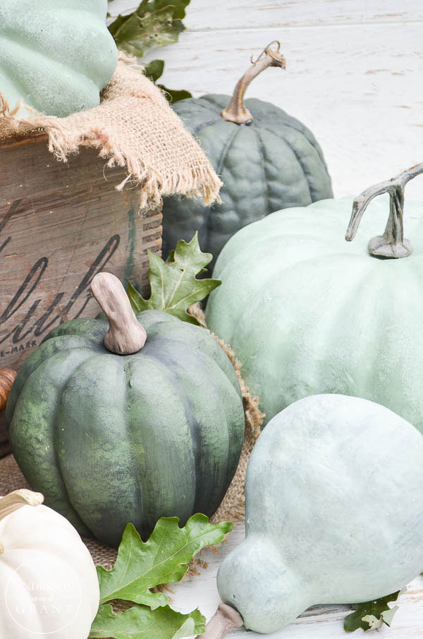 Useful fall DIY tutorial for transforming pumpkins with chalk paint.  |  www.andersonandgrant.com