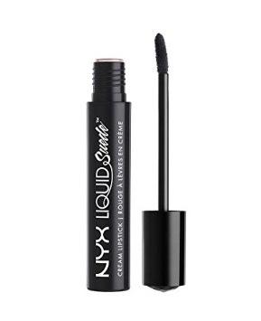 38 Ways to Wear Black Lipstick NYX Liquid Suede Cream lipstick in alien beauty blogger black lipstick makeup