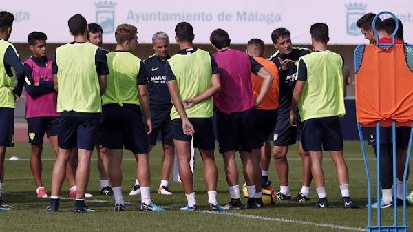 Málaga, Míchel recupera efectivos en el entrenamiento de hoy