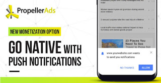 PropellerAds publicidad nativa Push Notifications
