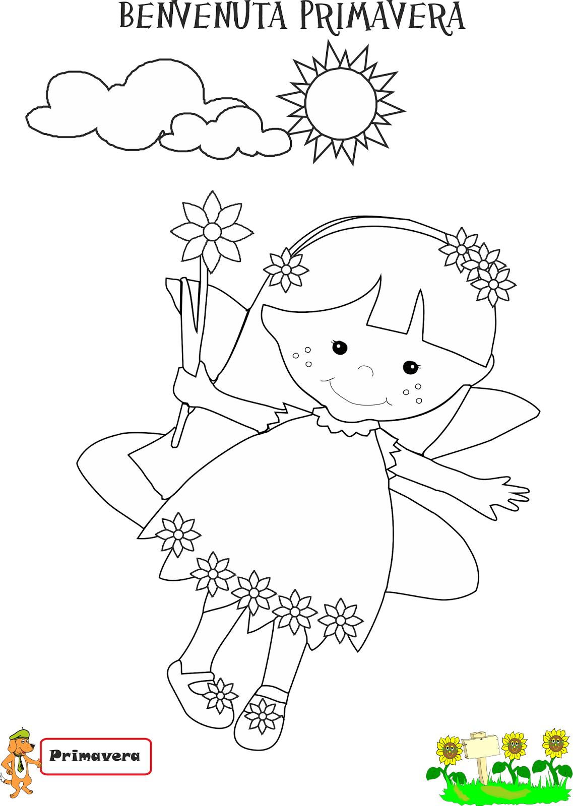 A scuola con poldo re ludos e la fata primavera - Fata immagine da colorare ...