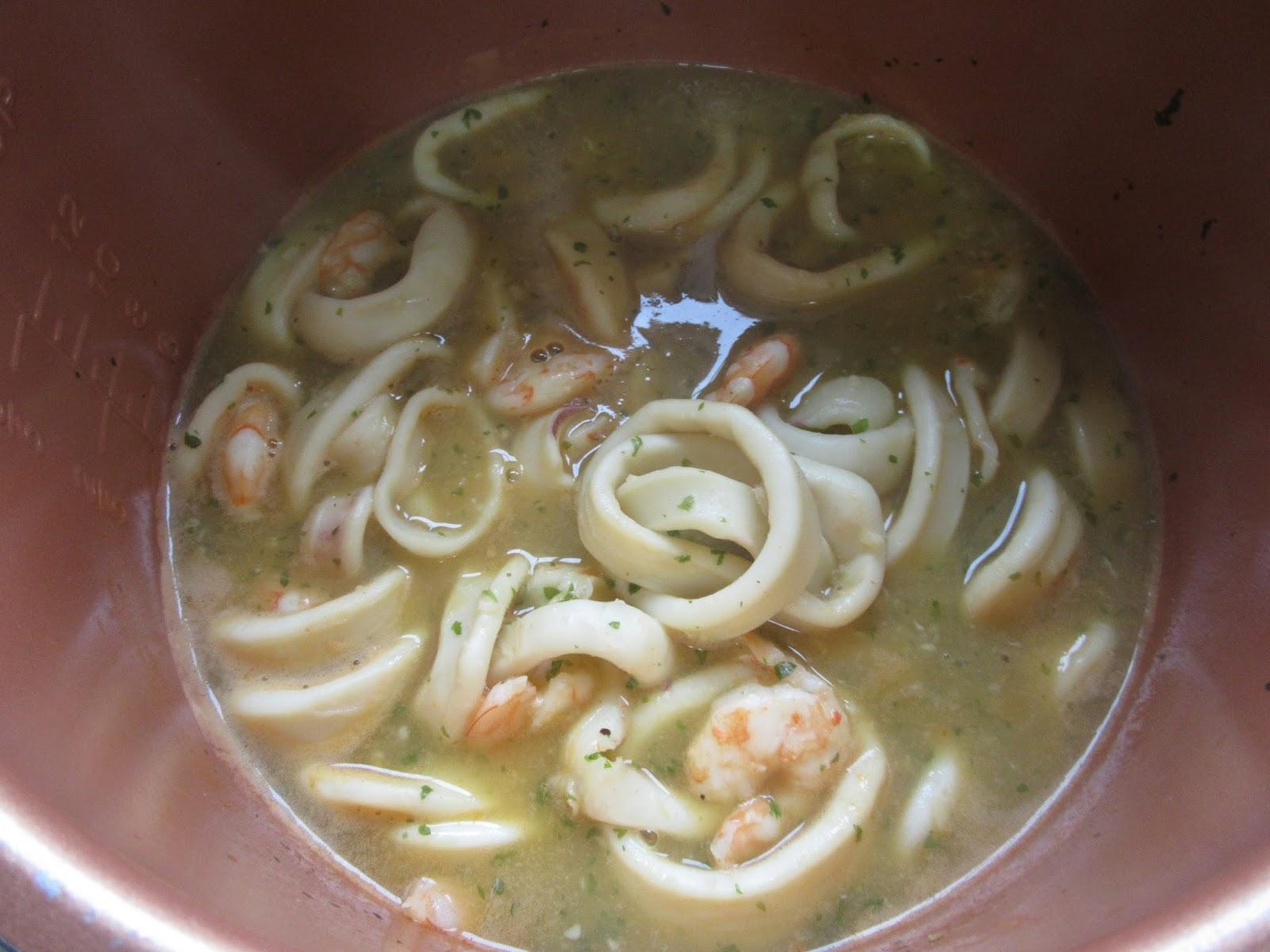 Calamares en salsa de langostinos olla GM Olla GM La Juani