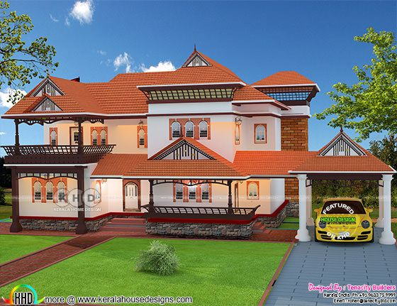 Traditional Kerala home 3107 square feet