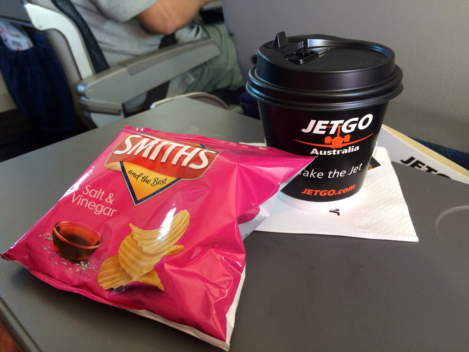 Drinks and Snacks Complimentary on JETGO Australia