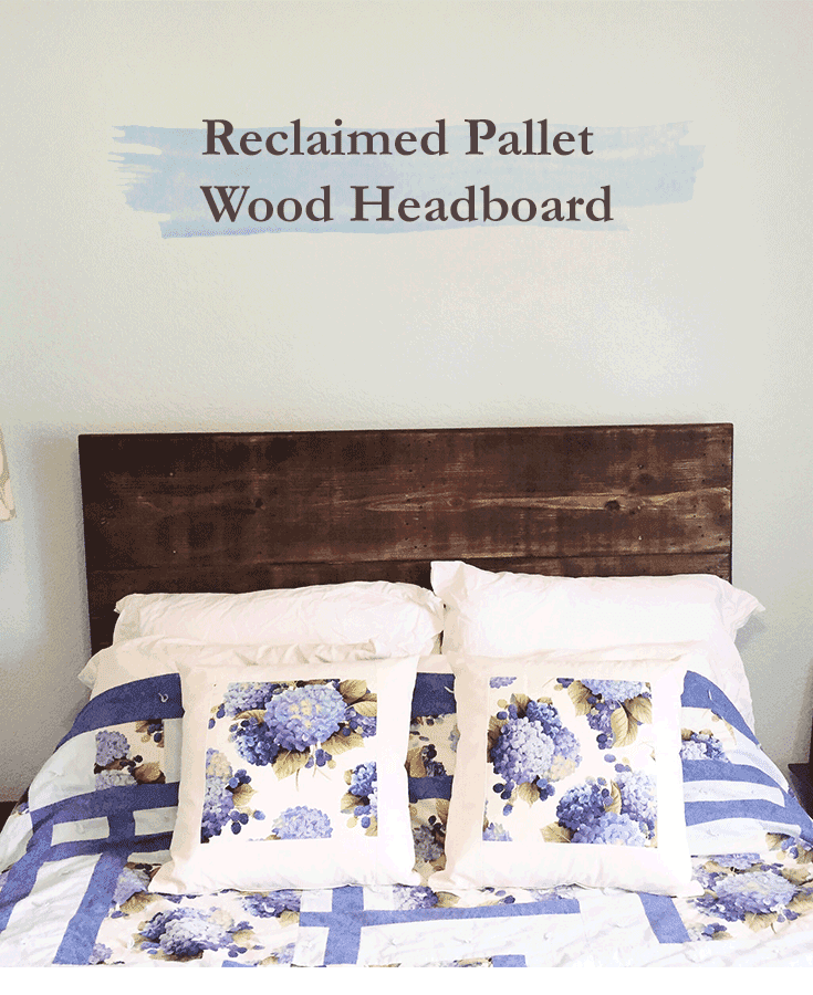 Diy how to make a reclaimed pallet wood headboard for How to make a wood pallet headboard
