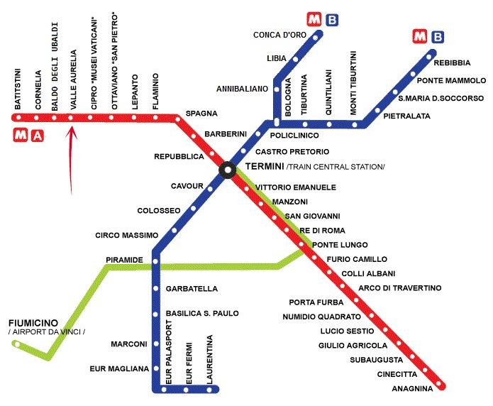 rooman metrokartta