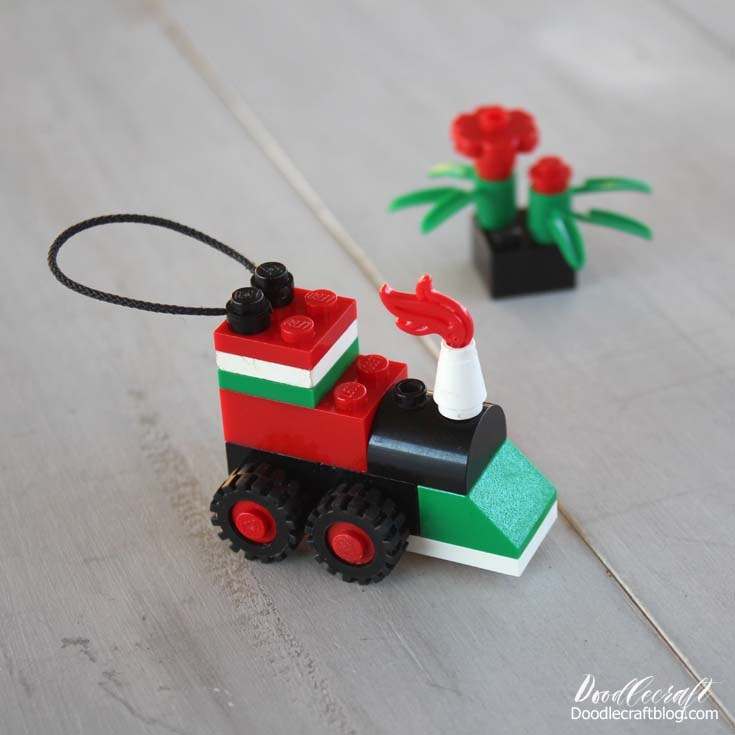 Lego Toy Train Christmas Tree Ornament DIY! - Doodlecraft: Lego Toy Train Christmas Tree Ornament DIY!