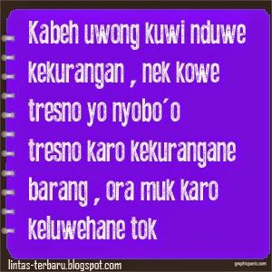 Kata Kata Lucu Banget Bahasa Jawa