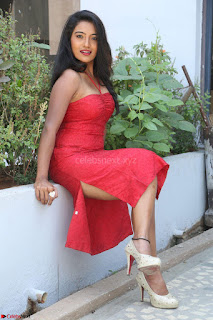 Mamatha sizzles in red Gown at Katrina Karina Madhyalo Kamal Haasan movie Launch event 024.JPG