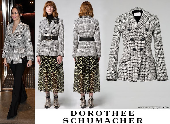Princess Sofia wore Dorothée Schumacher offbeat check jacket
