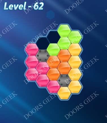 Block! Hexa Puzzle [5 Mania] Level 62 Solution, Cheats, Walkthrough for android, iphone, ipad, ipod