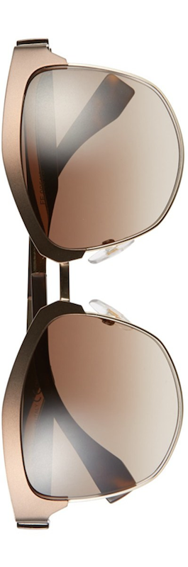 Fendi 55mm Retro Sunglasses Brown Gold/Brown Gradient