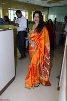 Marath Actrss Urmila Kanitkar Celetes Gudi Padwa in Orange Saree 33.JPG