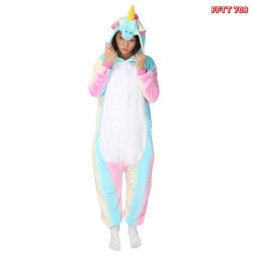 FFTT  708  Model Jumpsuit Onesie+Hoodie Desain Unicorn u.. Murah BMGSHOP