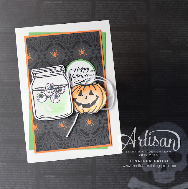 #TGIFc78, Halloween, Jar of Haunts, Witches Brew Designer Series Paper, Papercraft by Jennifer Frost