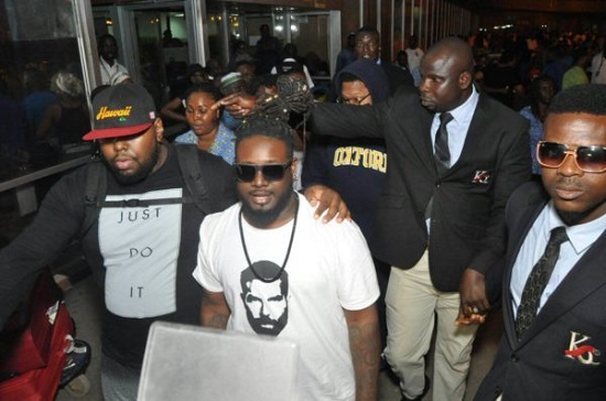Photos Of American Star T-Pain As He Arrives Lagos For An Event