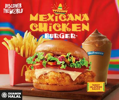 Menu baru McDonald's Mexicana Chicken Burger