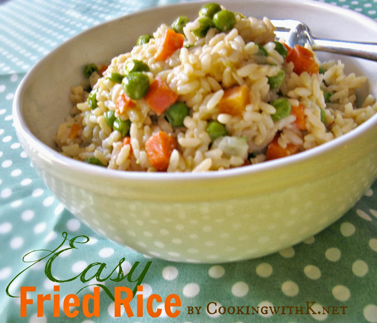 Cooking with k easy fried rice no need for take out make it easy fried rice ccuart Choice Image