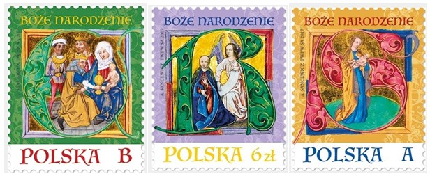 christmas 2017 stamps from poland