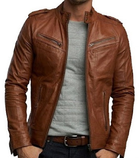 Gambar Brown Leather Jacket