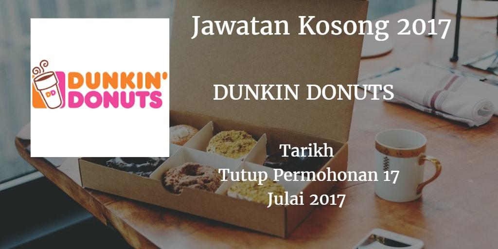 Jawatan Kosong Dunkin Donuts 17 Julai 2017