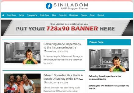 Template Siniladom Free AMP Blogspot