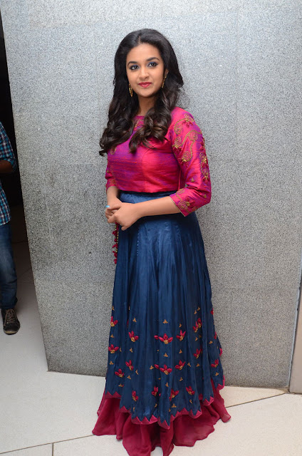 Keerthy Suresh in Skirt and Crop Top